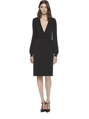 243-gucci-women-s-black-stretch-v-neck-dress-1