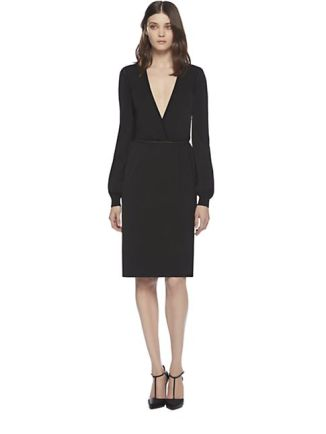 243-gucci-women-s-black-stretch-v-neck-dress-1