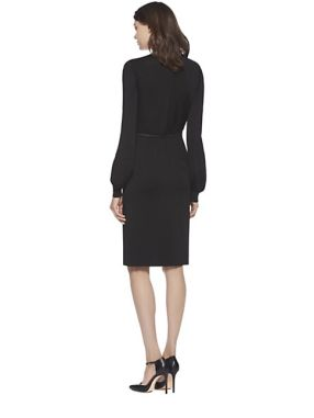 243-gucci-women-s-black-stretch-v-neck-dress-2